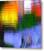 Abstract Reflections In Water 01 Metal Print