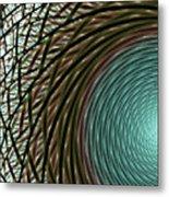 Abstract Ring Metal Print