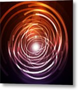 Abstract Rings Metal Print