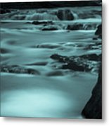 Abstract River Flow Metal Print