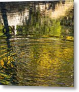 Abstract River Reflection Metal Print