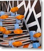 Abstract Road Work Metal Print