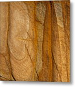 Abstract Rock With Lines And Rectangles Metal Print