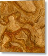 Abstract Rock With Swirling Lines Metal Print
