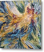 Abstract Guam Rooster Metal Print