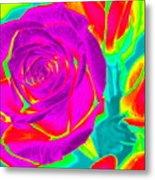 Blooming Roses Abstract Metal Print