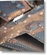 Abstract Rust 2 Metal Print