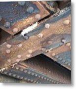 Abstract Rust 2 Metal Print