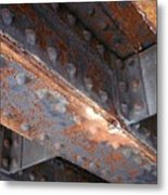 Abstract Rust 3 Metal Print