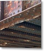 Abstract Rust 4 Metal Print