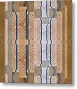 Wood And Blue Metal Print