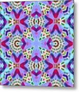 Abstract Seamless Pattern  - Blue Pink Purple Red Green Brown White Metal Print