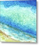 Abstract Seascape Beach Painting A1 Metal Print