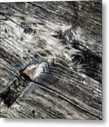 Abstract Shapes On An Old Weathered Wooden Board Metal Print