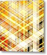 Abstract Shining Lines Metal Print