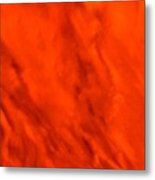Abstract-simply Red Metal Print
