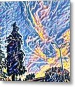 Abstract Sky Metal Print