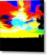 Abstract Sky Metal Print