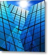 Abstract Skyscrapers Metal Print