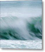 Abstract Soft Waves Metal Print