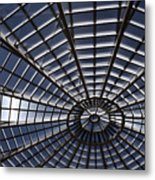 Abstract Spiderweb View Of A Central Tower Skylight At The World Metal Print