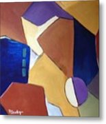 Abstract Square  Metal Print