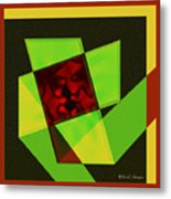 Abstract Squares And Angles Metal Print