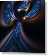 Abstract Stained Glass Angel Metal Print