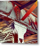 Grunge Steel Beam Metal Print