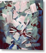 Abstract Stone Chaos Metal Print