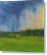 Abstract Stormy Landscape Metal Print