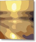 Abstract Sunset 34 Metal Print