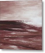 Abstract Sunset In Brown Reds Metal Print