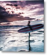 Abstract Surfer Metal Print