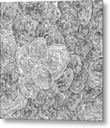 Abstract Swirl Design In Black And White #1 Metal Print