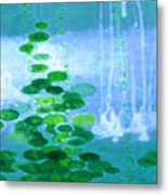 Abstract Symphony In Blue And Green Metal Print