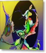 Abstract Tarot Card The Lovers Metal Print