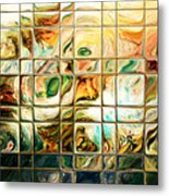 Abstract-through Glass Metal Print