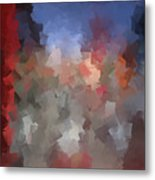 Red And Blue - Abstract Tiles No. 16.0110 Metal Print