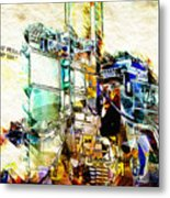 Abstract Train Metal Print