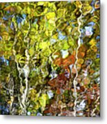 Abstract Tree Reflection Metal Print
