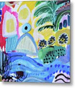 Abstract Tropical Landscape Metal Print