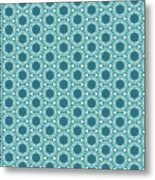Abstract Turquoise Pattern 2 Metal Print