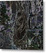 Abstract Twisted Tree Metal Print