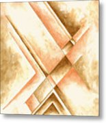 Abstract Unique Original Painting Contemporary Art Champagne Dreams I By Madart Metal Print
