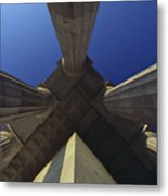 Abstract View Of Columns Of Lincoln Metal Print