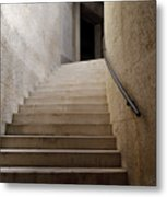 Abstract View Of Stone Curved Staircase At The World War I Monum Metal Print