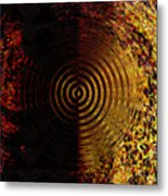 Abstract Water Effect Metal Print