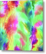Abstract Watercolor Ferns Metal Print