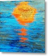 Abstract Watery Sunset Metal Print